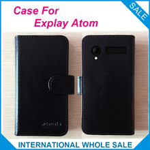 In stock Hot! Explay Atom Case, 6 Colors High Quality Leather Exclusive Cover For Explay Atom Cover Phone Bag Tracking