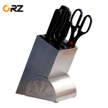 ORZ Creative Kitchen Knife Block Multifunctional Kitchen Accessories Storage Rack Tool Holder Stainless Steel Knife Holder Rack