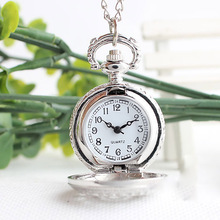 Retro small Size Spider Webs Pocket Watch/Watch Necklace Fashion Jewelry Pendant Watch Necklace LXH