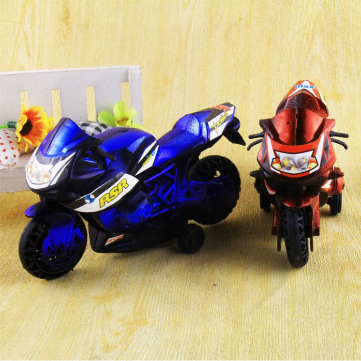 2Pcs/Set 7.5 * 13 cm High Quality Kids Motorcycle Toy Car Two Loaded Classic Antique Car Model W20(China (Mainland))