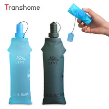 Transhome Foldable Water Bottle 500ml Sports Water Kettles Soft-water Kettle Outdoor Mountaineering Running Shaker Water Bottles
