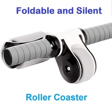 Foldable Premium ABS Double Wheels AB Roller Coaster Belly Exercise Strength Training Rollers gym fitness