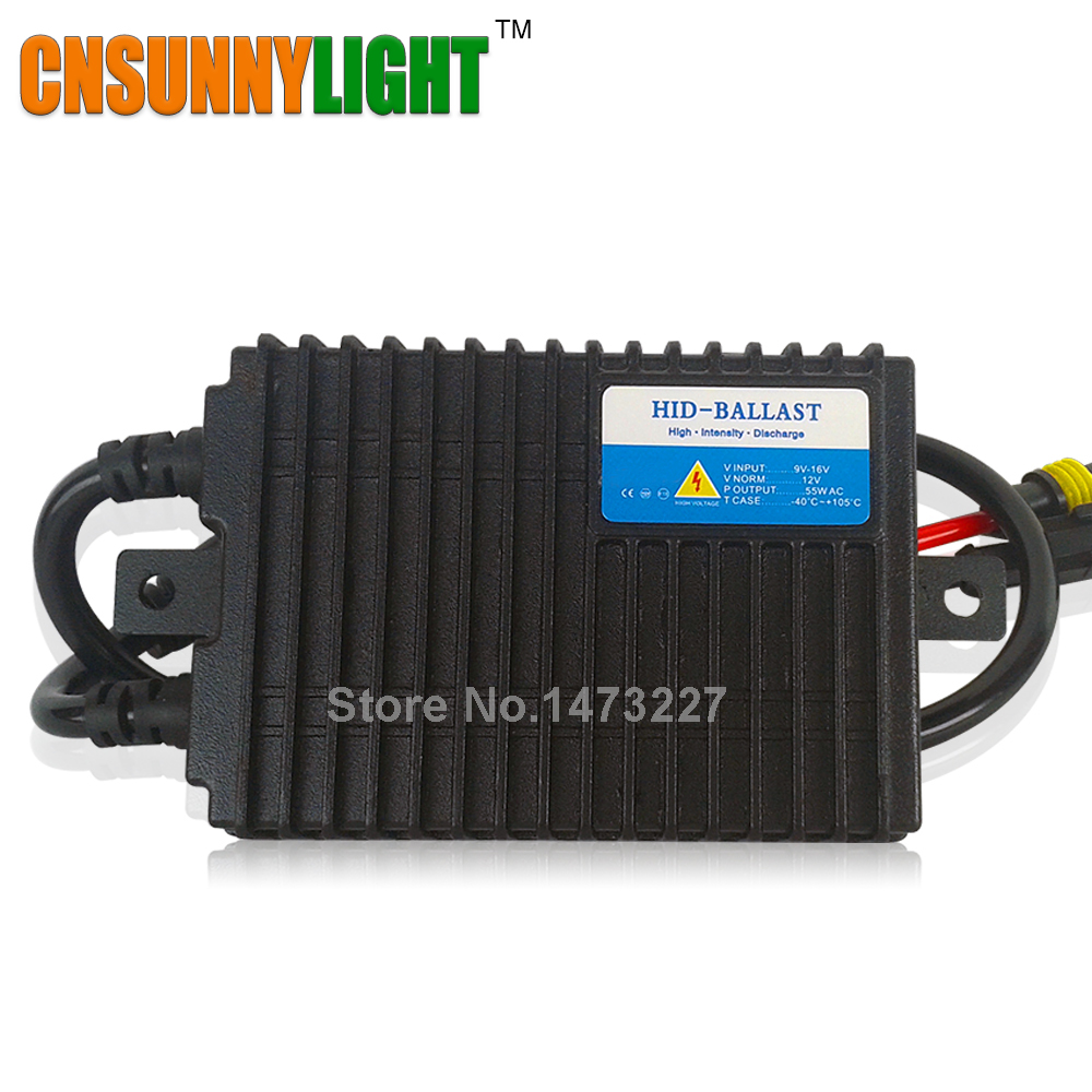 CNSUNNYLIGHT Car Xenon HID Conversion Kit w/ Fast Start Slim Ballast Blocks Replace for Headlights All Light Bulbs AC 12V 55W<br><br>Aliexpress