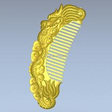 Comb with dragon 3d model relief  for cnc  in STL file format 3D model for CNC machine