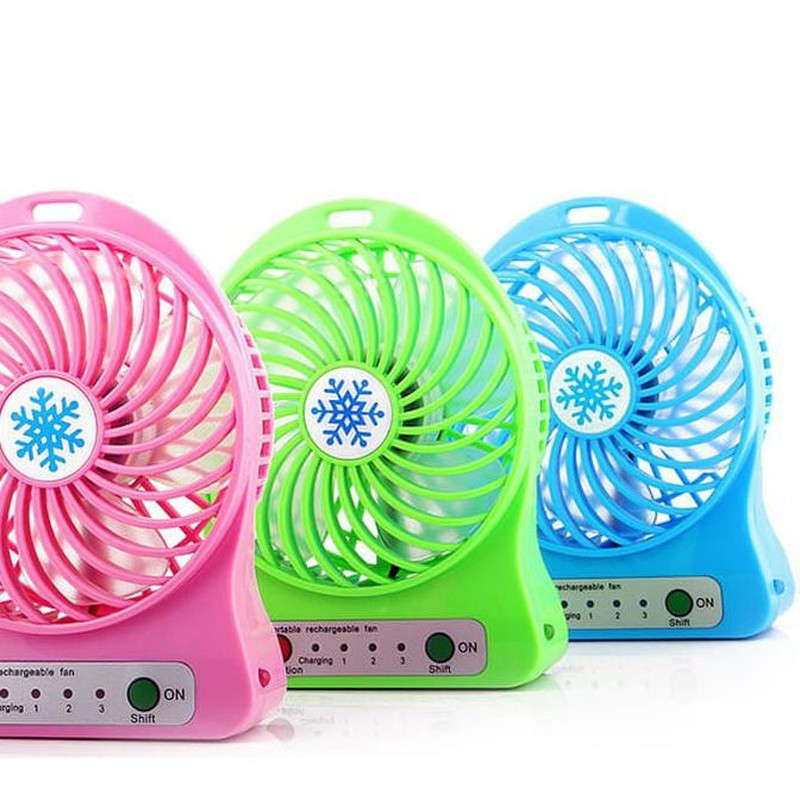 2019 Portable Rechargeable LED Light Summer Fan Mini USB Charging Air Cooler 3 Mode Speed Regulation Fan(China)