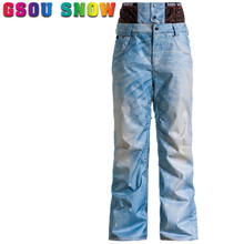 GSOU SNOW Brand Men Ski Pants Waterproof Ski Trousers Winter Outdoor Sport Pants Thicken Warm Skiing Snowboarding Pants