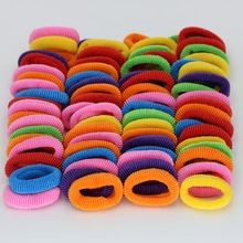 isnice 76pcs/lot Diameter 28mm kids cute Rainbow Color Gum For Hair Rubber bands hair accessories gum girl headband ornaments(China)