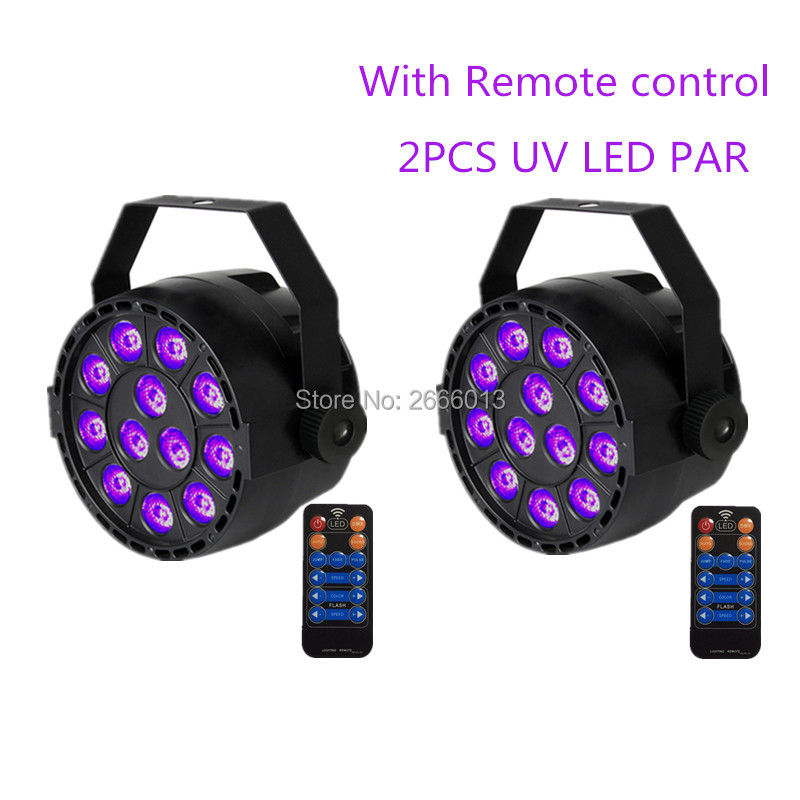 2pcs/lot With Reomte control 36W UV Led Stage light Ultraviolet Led par Light for KTV Party Pub Club Disco UV purple LED lamps<br>