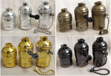 1pcs Vintage Choose Edison Lamp Holder Pendant Light E27 Socket UL/110V/220V Lamp Base