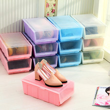 Shoes Box With Cover Kitchen Storage Shelf  Special Offer Limited Shoes Cabinet Flip Type Combined Plastic Organizer Candy Color