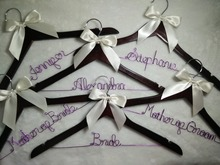 Free shipping 6 Personalized Wedding Hanger, bridesmaid gifts, name hanger, brides hanger bride gift Bridesmaids gift, Wire name