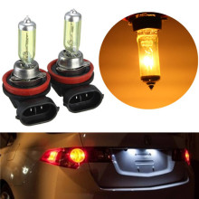 2 PCS(1 Pair) 12V 100W H11 Halogen Bulb Yellow 3000K Quartz Glass Car HeadLight Auto Light XENON Fog Lamp + Retail packaging box