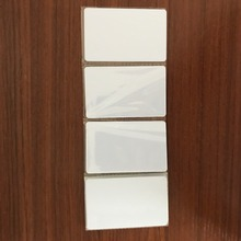 UHF RFID smart white Card with Dual Frequency LF+UHF 125KHz & 915MHz Compound ID card passive tag 200pcs/lots(China)