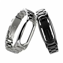 Watchband Strap For Xiaomi Mi Band 2 Magnet Stainless Steel Luxury Wrist Strap Metal Wristband Dignity Correa Venda Dropship F7(China)