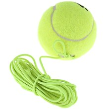 Single Package Drill Tennis Trainer Ball With String Replacement Rubber Woolen Balls  Neon Green