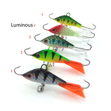 1PCS Winter Ice Fishing Lure Vertical Jigging Lead Fish Bait Fishing Hook Ice Balance Fish Jigs Marbit 5cm 7.4g(China)
