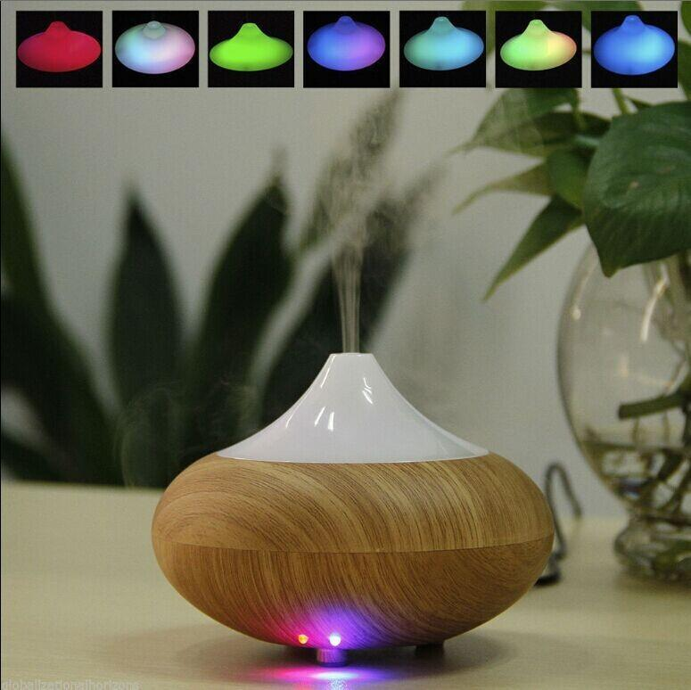 NEW Wood Grain Aroma Therapy Ultrasonic Air Humidifier Diffuser Ionizer 2 Colors Air Diffuser<br>