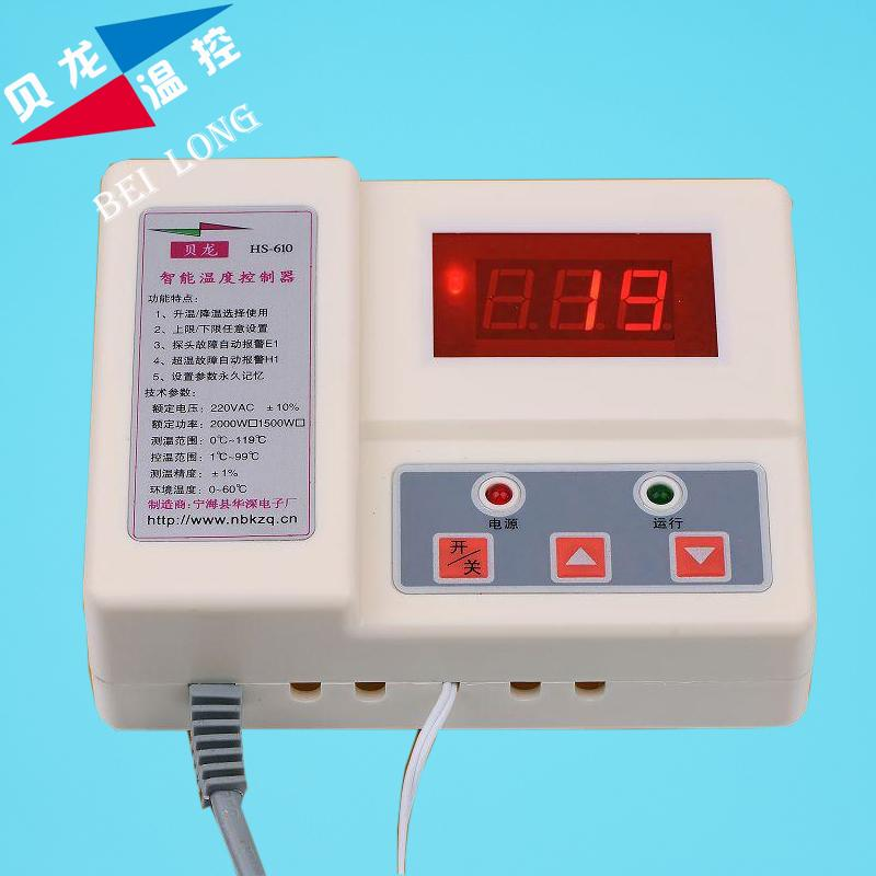 610 intelligent temperature controller, digital adjustable temperature controller, culture and planting electronic  temperature<br><br>Aliexpress