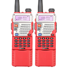 2PCS New Red BaoFeng Walkie Talkie UV-5RE Ham Two Way Radio Dual Band VHF UHF Walkie Talkie with Long Battery