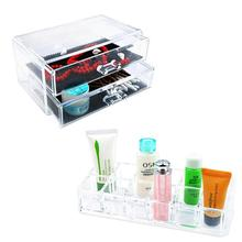 14 Grids 3 Layer Drawers Lipstick Case jewelry Box Skin Care Organizer Storage Holder Clear Acrylic Display Stand EQC388