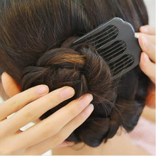 Waved U-shaped Pin Salon Grip Clip Hairpin Black Volume Inserts Hair Clip Ponytail styling tools Hair band Accessories Multi Use(China)