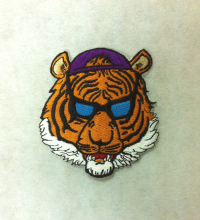 tiger embroidery patches for T shirt