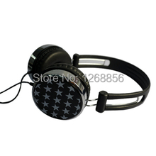 Free shipping, stereo earphone headphone headset, with beautiful star design 3.5mm stereo, music, perfect sound quality !