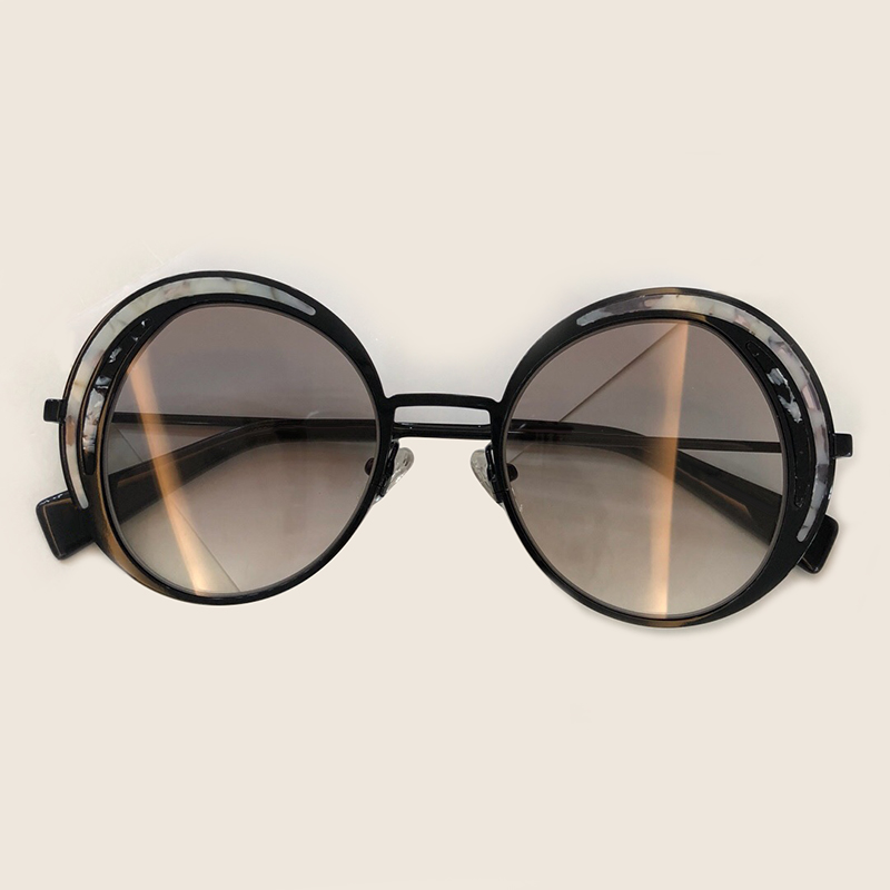 Women Round Sunglasses 2019 Vintage Sunglasse Women Brand Designer Round Sunglasses New Mirror UV400