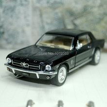 (10pcs/lot) Wholesale Brand New YJ 1/36 Scale Car Toys 1964 Ford Mustang Diecast Metal Pull Back Car Model Toy