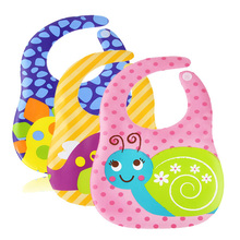 Baby bibs burp waterproof lunch bibs boys girls infant cartoon pattern bibs burp cloth kids feeding care aprons