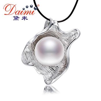DAIMI 11-12 MM Grosse Perle Pendentif 3 Couleur Unique Style Naturel D'eau Douce Perle Collier Pendentif