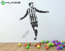 3d Poster soccer athlete Antoine Griezmann Wall Stickers For Kids Room Football Player Wall Art Decals Vinilos Paredes SA094A