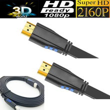 flat HDMI cable 2.0 10M 5M 3M 4K UHD HDMI 2.0 Ready 18Gbps -Ethernet & Audio Return Channel-Video 4K 2160p HD 1080p 3D(China)