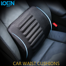 LOEN 1PC Breathable mesh cloth chair car lumbar supports back cushion pillow for toyota vw ford hyundai honda chevrolet kia(China)