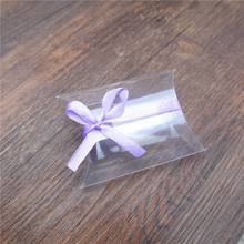 1000pcs Clear PVC Pillow Boxes Favor Baby Bridal Shower Candy Gift Box Plastic Pillow Wedding Favor bags Party PVC Wholesales