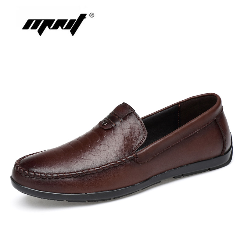 Shoes men fashion casual genuine leather men loafers slip on male flats shoes mocasines hombre<br>