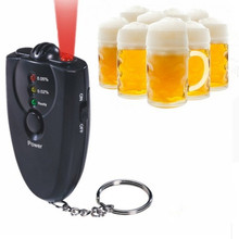 Professional Tester For test Alcohol level mini Portble Accurate Breath Alcohol Tester Breathalyzer Flashlight Free Shipping3678(China)