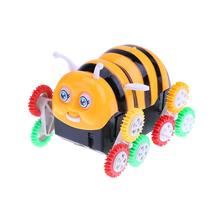 Cute Baby Toys Electric Cartoon Bee Bucket Stunt Car Rapid Dump Trucks Children Vehicle Electric Bee Dumpers Gift for Kids