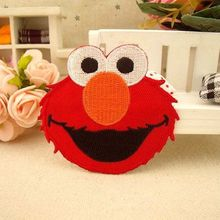 5 pcs/set 6.3cm*7.2cm Red Sesame Street Elmo Cloth Embroidered Iron-On Patches For Clothes Garment Applique DIY Accessory