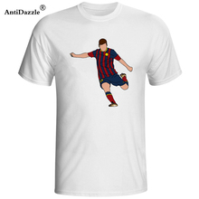 2018 Lionel Messi Shirt camiseta Barcelona camisa T shirt Men Short sleeve Messi T-shirt Cotton tshirt Tops Argentina jersey Tee(China)