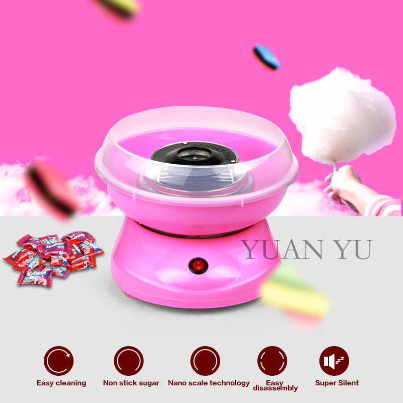 Mini Commercial Portable Cotton Candy Maker Lovely Valentine Gift Sweet Sugar DIY Sugar Snack Stalls Fairy Floss Machine<br><br>Aliexpress