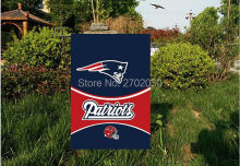 "New England Patriots National Football Team Garden flag kintted polyester double sides 13""X18"" custom designed flag Outdoor"