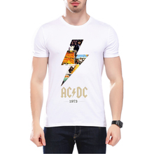 New Camisetas AC/DC band rock T Shirt Fashion ACDC The Beatles Nirvana Band Logo Casual Brand Men T Shirt L9O5