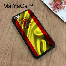 MaiYaCa Spain Waving Spanish Flag Phone Cases For Apple iPhone 8 Coque Case Rubber Soft TPU Drawing Phone Case Back Cover(China)