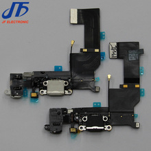 USB Charger Dock Charging port For iPhone 5S Connector data Flex Cable (White and black) 10pcs/lot(China)