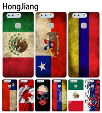 HongJiang slovak mexico canada chile colombia flag Cover phone Case for huawei P7 P8 P9 P10 lite plus G8 G7 honor 5C 2017 mate 8(China)