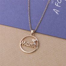 Buy DoreenBeads Fashion Pendant Necklace Rose Gold Color Link Chain Round Pendant Mama Heart Pattern Mother's Day Gift,1 Piece for $2.64 in AliExpress store
