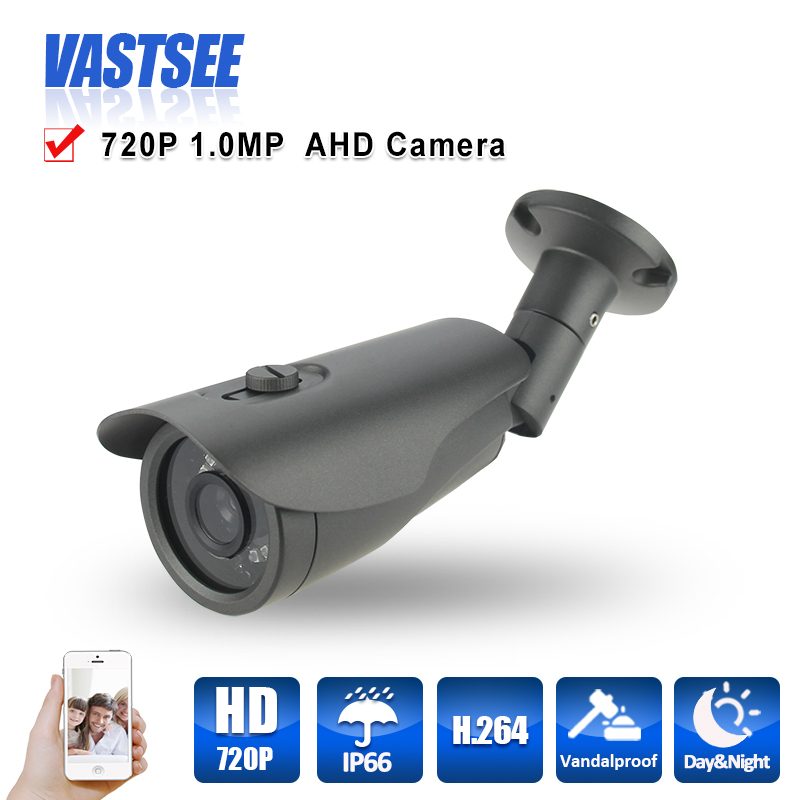 720P AHD Camera 1.0MP Outdoor Bullet waterproof ip66 security CCTV HD Lens Night Vision With IR-CUT with 3-Axis bracket 24IR BNC<br><br>Aliexpress
