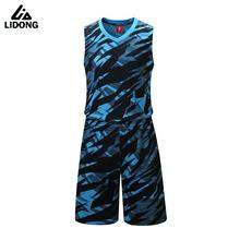 New Mens Summer Camouflage Basketball Jersey Sets Throwback College Basketball Jerseys Uniforms Kits Sportswear Suits Breathable