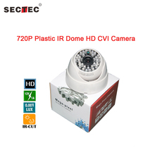 SECTEC CVI Camera 720P Plastic Camera with 48pcs IR Led MMS on line remote view icloud CVI camera 3.6 mm Board Lens